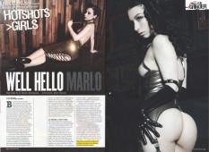Well Hello Marlo | Bizarre Magazine September 2013, Issue 206